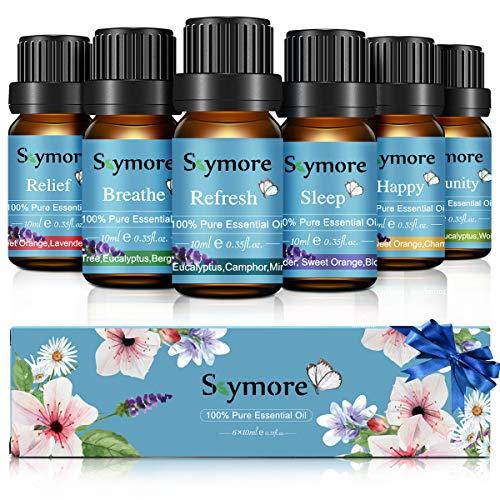 Skymore Oli Essenzial,6*10ml Set di Oli Essenziali per Diffusore, Massaggio, perfetto regalo di vacanza