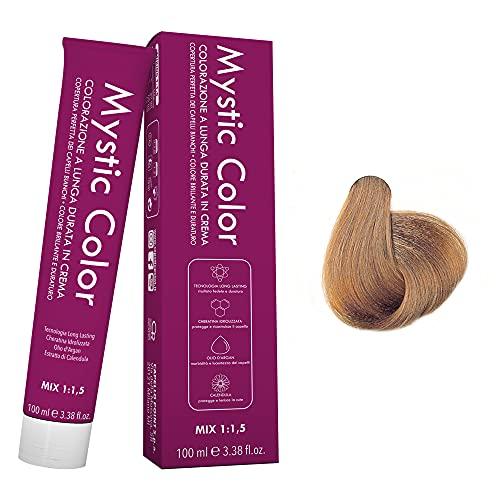 Mystic Color - Colore Biondo Chiaro Dorato 8.3 - Tinta per Capelli - Colorazione Professionale in Crema a Lunga Durata - Con Cheratina Idrolizzata, Olio di Argan e Calendula - 100 ml
