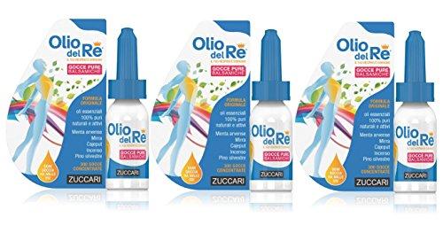 3x Olio del Re Zuccari - Gocce Balsamiche 3 CONFEZIONI DA 10ml c