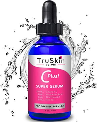 Vitamina c-plus super siero, anti-invecchiamento anti-rughe siero facciale con Niacinamide, Retinolo, acido ialuronico, e acido Salicilico