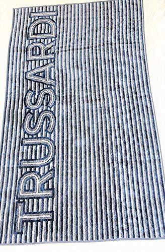 Trussardi Home Linen Telo Mare in Pura Spugna Velour Art. Contemporary Logo cm. 95x180