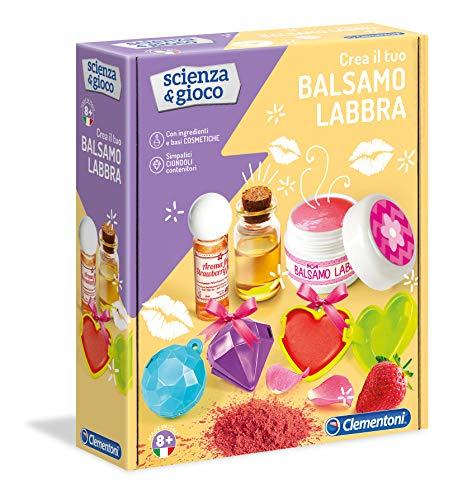 Clementoni - 19147 - Scienza E Gioco - Crea Il Tuo Balsamo Labbra - Made In Italy - Laboratorio Cosmetica - Gioco Scientifico Per Bambini 8 Anni, Italiano