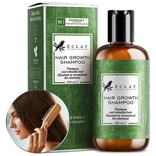Shampoo per la Crescita dei Capelli Eclat – Shampoo Naturale con Caffeina e Olio di Argan per Stimolare la Crescita e lo Spessore dei Capelli e Prevenire il Diradamento