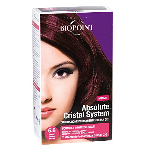 Biopoint Absolute Cristal System Tinta Per Capelli (Colore 6.6 - Biondo Scuro Rosso) - 100 gr.