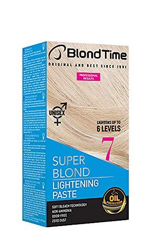 Blond Time La pasta schiarente super bionda schiarisce fino a 6 livelli Senza ammoniaca Senza polvere Senza odori 120 ml