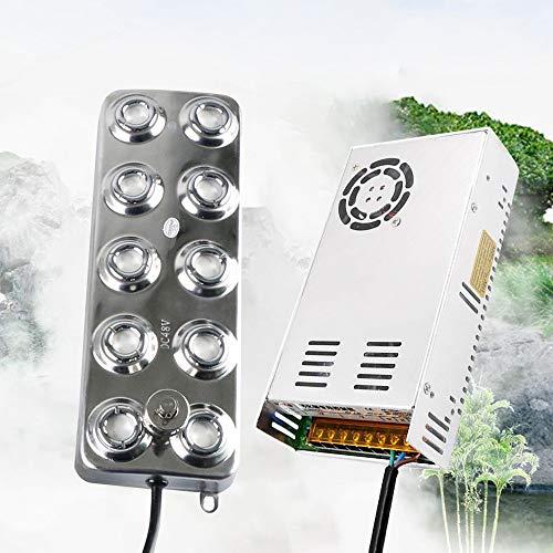 InLoveArts Nebulizzatore ad ultrasuoni per nebulizzatore, umidificatore per nebulizzatore con nebulizzatore con trasformatore per Piante da Giardino (10 Fori)