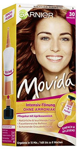 Garnier Movida capelli colore tinta Intenso, 30Mogano