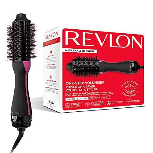 Revlon RVDR5282UKE One-Step Volumiser - Asciugacapelli Volumizzante per Capelli da Medi a Corti, Nero/Fuchsia