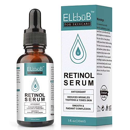 Siero al Retinolo - Sistema Avanzato di Rilascio del Retinol con il di Complesso di Vitamina C, Aloe vera, Acido Ialuronico e Vitamine E, eccellente sintetico effetto ridurre rughe