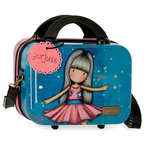 Gorjuss Dancing Among the Stars Beauty case in ABS adattabile al trolley, 29x21x15 cms, Multicolor