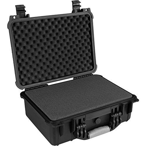 TecTake 800574 - Valigetta universale per Fotocamera, Leggera e robusta Scocca rigida in Materiale Plastico, 3 Inserti in Espanso - Disponibile in diverse Misure (L | No. 402871)