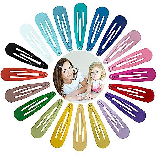 Viccess Mollette per Capelli Bambina Fermagli Capelli in Metallo Mollette per Capelli Colorati Antiscivolo Clips Accessori per Bambini,120 Pcs 20 Colori