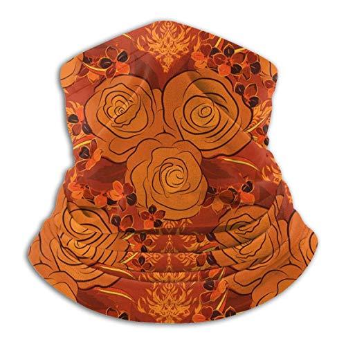 Lawenp Sciarpa per il viso scaldacollo con motivo a fiori di rosa per uomo e donna