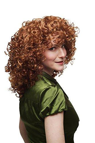 WIG ME UP - Parrucca da Donna Chioma Riccia Pazza Molto voluminosa Mix di Rosso e Biondo SA042-350/144