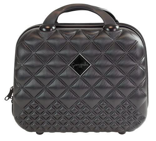 Camomilla MILANO Vanity Case (15 lt.), Beauty Case da Viaggio, Materiale Rigido, Chiusura Zip, Colore Nero
