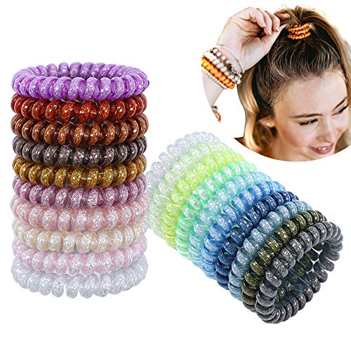 20 bigodini a spirale per capelli per una piega senza calore bigodini colorati a spirale per capelli per donne ragazze
