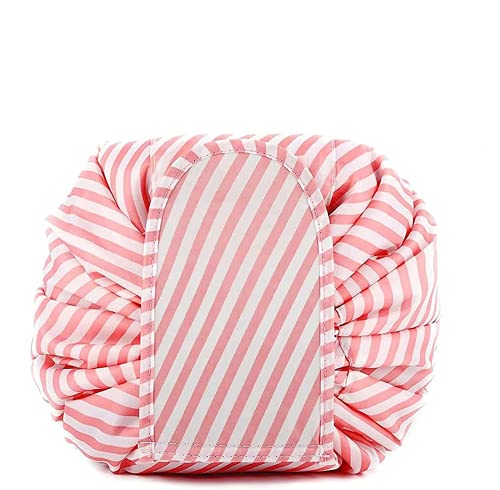 makeup bag with drawstring,Opens Flat Large women Daily Use Durable travel toiletry bag 54cm*54cm,For Ladies And Girls Drawstring Makeup Bag (A)