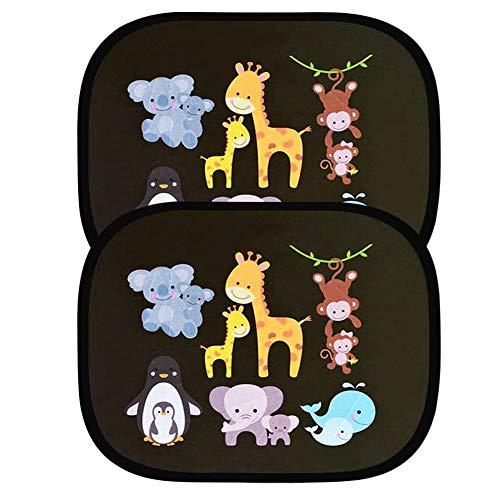 Protezione Solare Auto Parasole Lato Finestra Parabrezza Finestra da Tetto per Bambini Adulti Adsorbimento elettrostatico