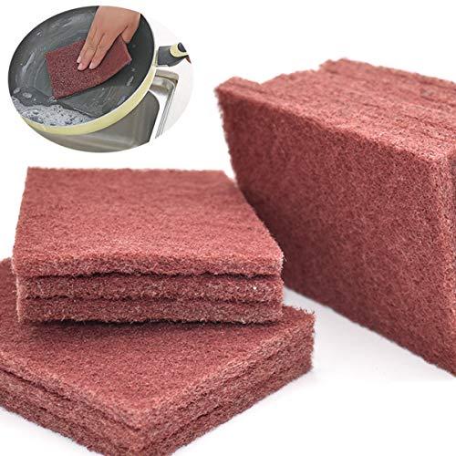 Xiuyer Spugnette Abrasive Riutilizzabile Panni Detergente Domestico Lavaggio Paglietta Spugne Scrubber Cuscinetti di Pulizia per Cucina Piatti Pentole Padelle Lavello(15 Pezzi, 10x15 cm)