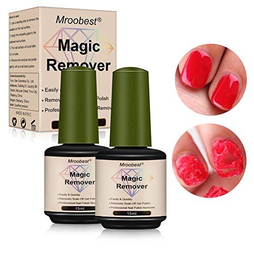 Gel Polish Remover, Magic Nail Polish Remover, Smalto per unghie professionale che rimuove facilmente e rapidamente l'olio di gel infiltrante, non danneggia l'unghia -15 ml (2 pezzi)