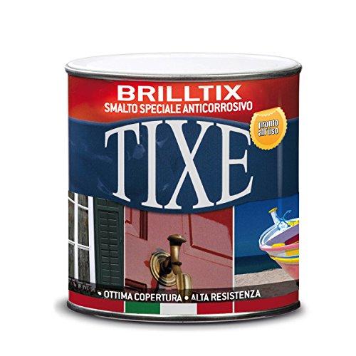 Tixe Brilltix Smalto a Solvente Anticorrosivo, Vernice, Nero Lucido, 750 ml