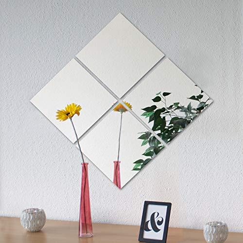 4 pezzi di piastrelle a specchio Image 30 ogni 30x30cm decorazione murale specchio adesivo specchio da parete