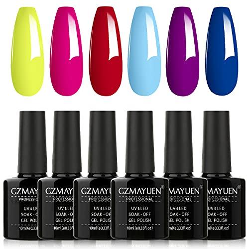 smalto semipermanente fluo neon smalti semipermanenti per unghie 6 colori semipermanente unghie gel uv colorati