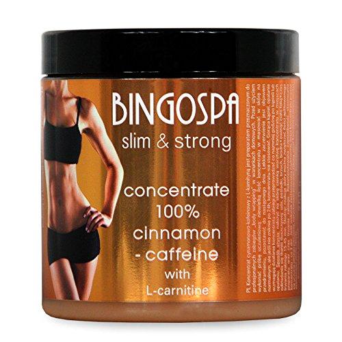 BINGOSPA cannella dimagrante anticellulite e caffeina concentrato al 100% con L-carnitina per rassodare e modellare - 250 g