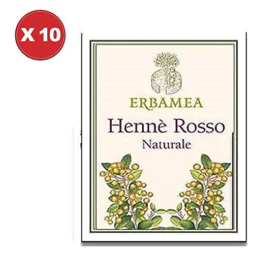 Henne' Rosso Naturale 10 Confezioni da 100 g Erbamea