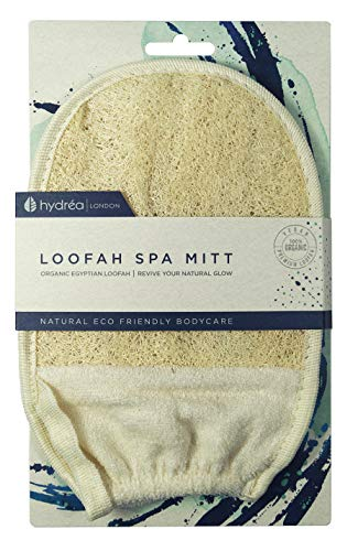 Hydrea London - Organic Egyptian Loofah, Guanto esfoliante in spugna di luffa