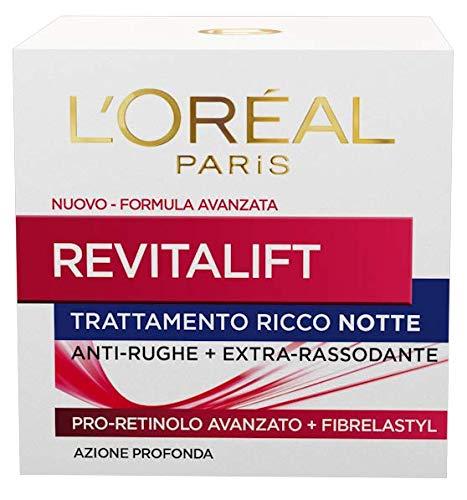 L'Oréal Paris Crema Viso Notte Revitalift, Azione Antirughe Extra-Rassodante con Pro-Retinolo Avanzato, 50 ml