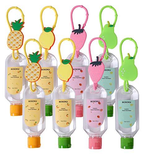 Portachiavi portatile da viaggio per bottiglie di frutta da 50 ml, contenitore vuoto ricaricabile, perfetto per i bambini per trasportare il disinfettante per le mani