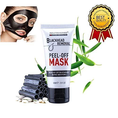 Maschera Viso, Maschera Punti neri, Black Mask, Maschera Comedone, Maschera Purificante, Rimuove Punti Neri, Illumina la Pelle, Naturale