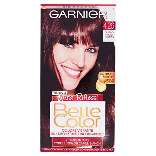 Garnier Garnier Belle Color Ultra Riflessi Colorazione Permanente, 4.26 Castano Pugna Naturale