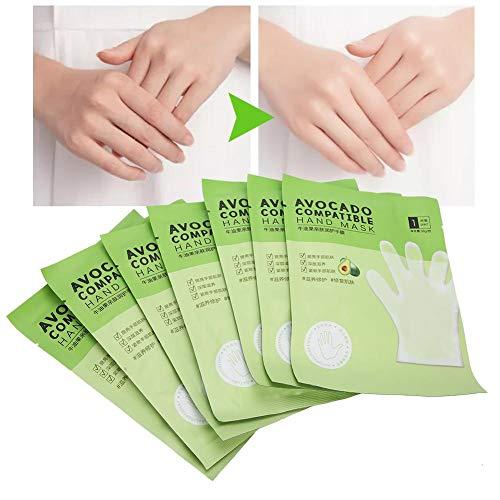 7pcs mani guanti idratanti, riparazione della pelle delle mani Rinnovare la maschera Maschera per le mani Avocado Idratante per la pelle Maschera per le mani nutriente idratante Cura delle mani asciut