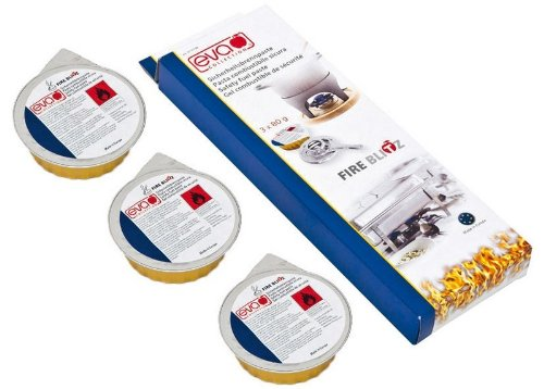 Eva Collection Fire-Blitz - Pasta Combustibile Sicura, 3x80g