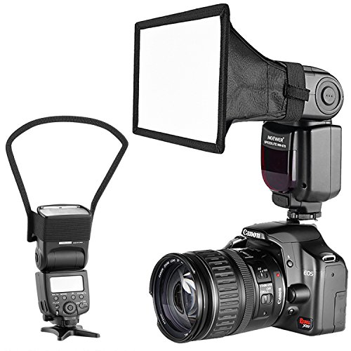 Neewer Camera Speedlite Flash Softbox e Kit di Riflettore Diffusore per Canon Nikon e altre Flash fotocamere DSLR, Neewer TT560 TT850 TT860 NW561 NW670 VK750II Flash