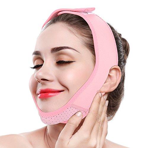 Semme Cintura snellente per il lifting del viso, maschera da collo a linea V Compressione Doppio cinturino sottogola Cinture per la perdita di peso Cura della pelle Sollevamento del mento avvolgente