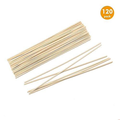 Esnow 120 pezzi bastoncini di diffusore di olio di legno di Reed Sostituzione bastoni da bastoncino di rattan per profumo di aroma, 9,45 pollici