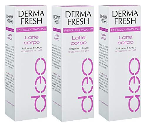3X DERMAFRESH IPERSUDORAZIONE - Deodorante Latte Corpo da 100 ml - LUNGA DURATA
