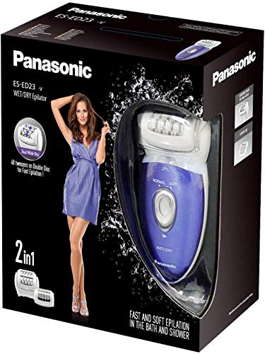 Panasonic ES-ED23-V503 epilatore, Plastica, 2 velocità