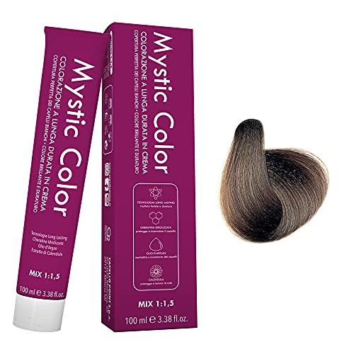 Mystic Color - Colore Biondo Cenere 7.1 - Tinta per Capelli - Colorazione Professionale in Crema a Lunga Durata - Con Cheratina Idrolizzata, Olio di Argan e Calendula - 100 ml…