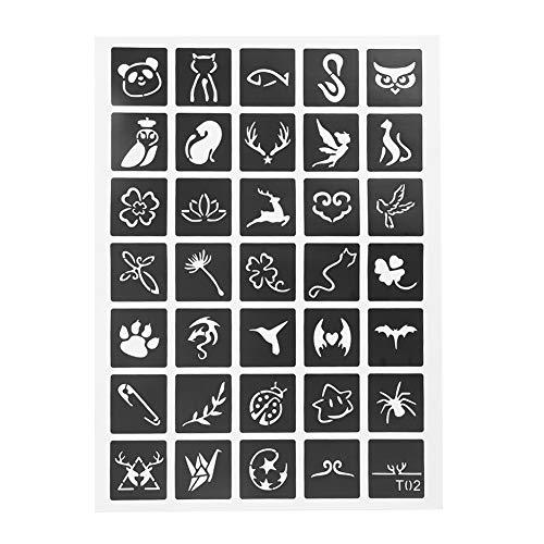 Stencil per tatuaggio semipermanente, piccolo modello temporaneo sicuro, tatuaggi professionali per principianti