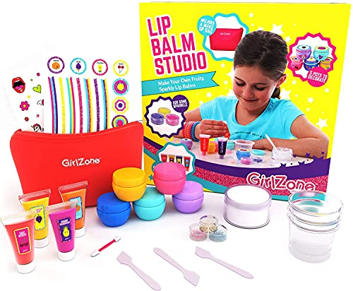 Regali per ragazze - balsamo per labbra fai da te, 24 parti - set per trucco per bambini - rossetti per bambini - set per trucco cosmetico per bambini - regalo per ragazze 6-10 anni