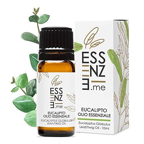 ESSENZE OLIO ESSENZIALE DI EUCALIPTO Puro al 100% Naturale, Profumo Ambiente Aromaterapia Per Diffusori, INCI Eucalyptus Globulus Leaf Twig Oil. Controllato e Confezionato in ITALIA.
