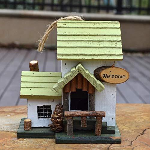 Gabbie per uccellini Di nidificazione di uccelli di sicurezza Giardino Tatuaggi Bird Hotel Cabin for uccelli selvatici attaccatura di legno Nido di uccello Box ( Colore : White , Size : 17x15x19CM )