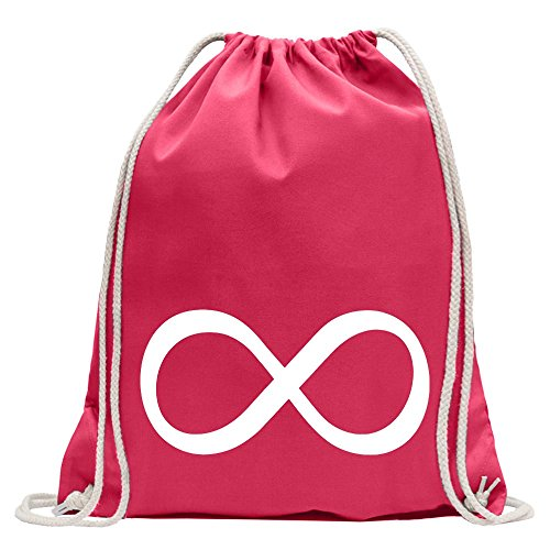Kiwistar Simbolo dell'infinito Divertente Zaino Sportivo per Il Fitness. Gymbag per Lo Shopping in Cotone con Coulisse