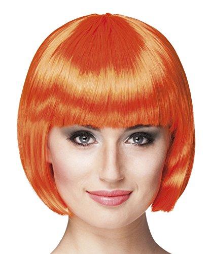 Boland- Cabaret Parrucca per Adulti, Arancione, Taglia Unica, 85893