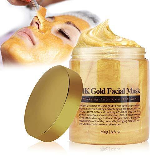 Maschera per il viso, Maschera facciale in oro 24 carati, Maschera per il viso al collagene d'oro Comedone Esfoliante Anti-età Idratante Idratante Cura della pelle, Trattamento viso anti rughe