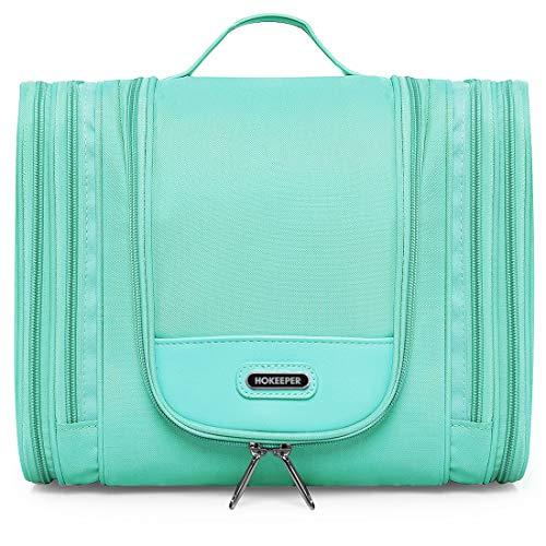 Heavy Duty Waterproof Hanging Toiletry Bag - Travel Cosmetic Makeup Bag for Women & Shaving Kit Organizer Bag for Men - Large Size: 26 * 11.5 * 21.5cm (Aquamarine-002)